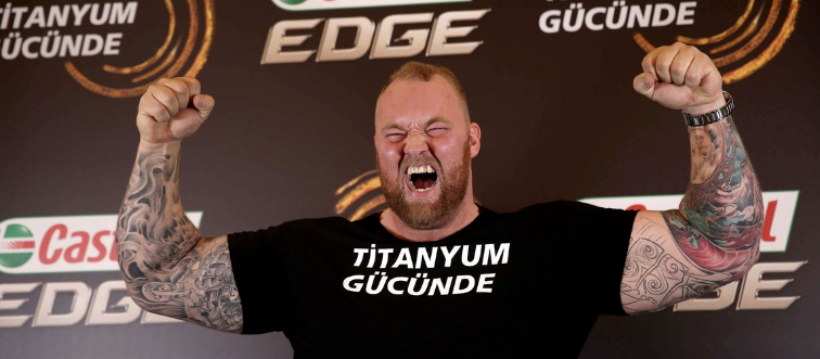 Thor Bjornsson during promotion in Istanbul
